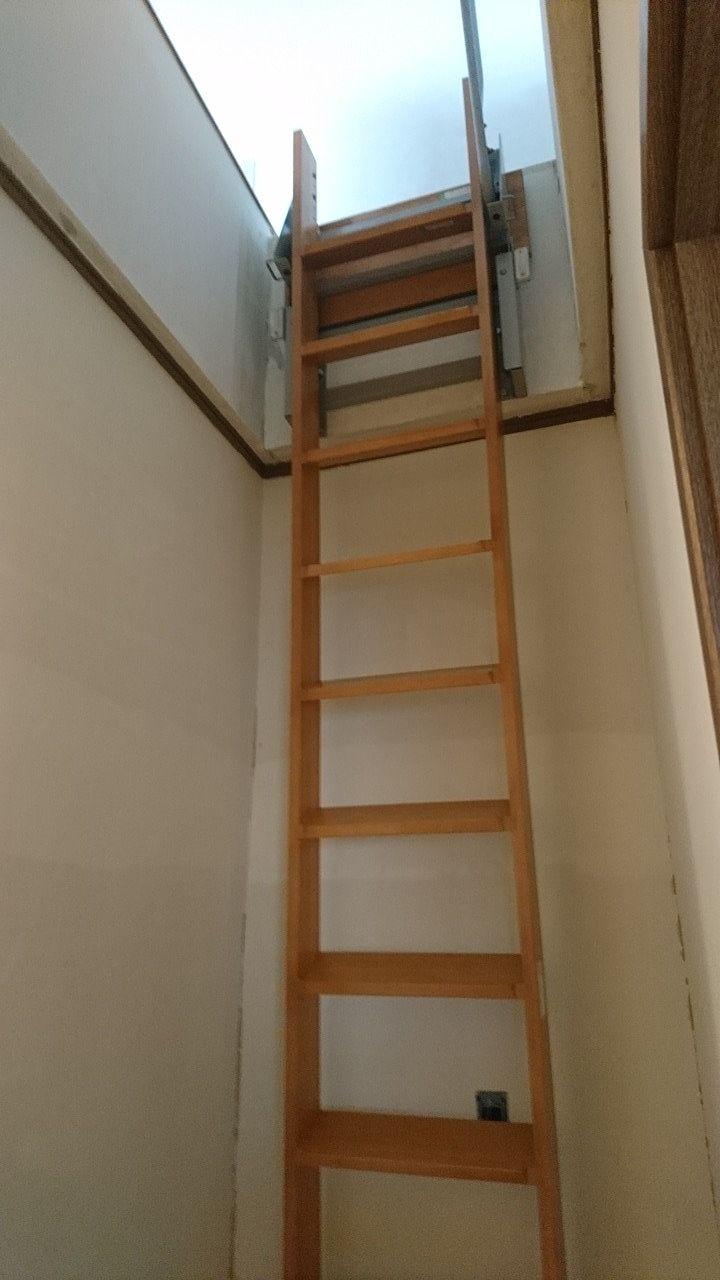 ロフトのはしごを普通の階建に出来る?