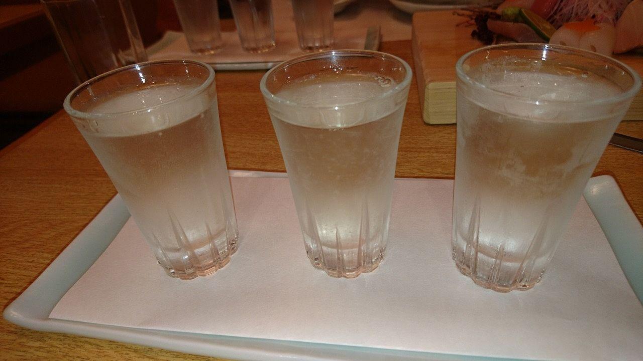日本酒のみくらべ
