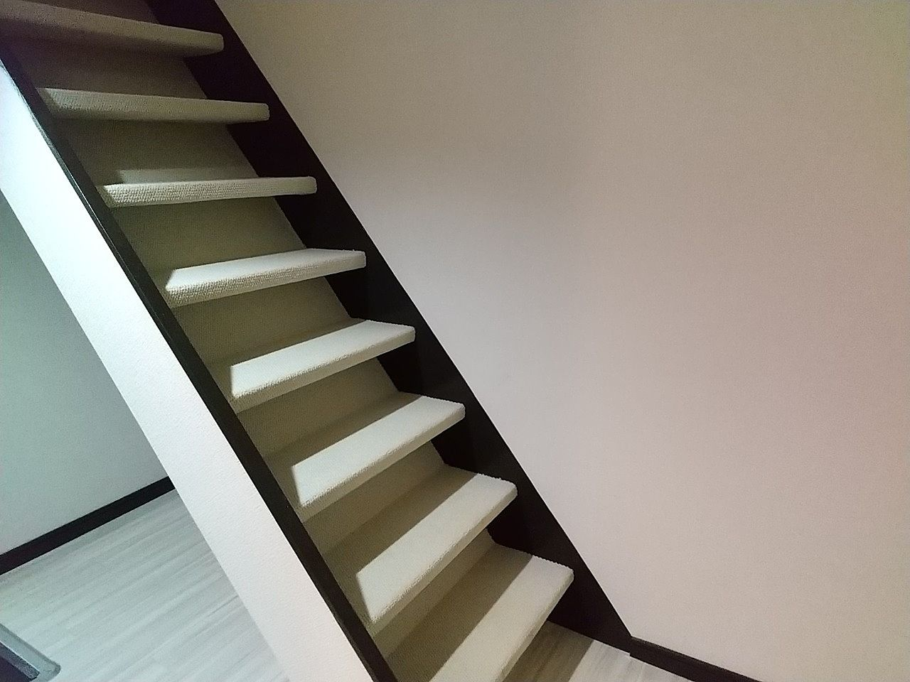 階段にじゅうたん